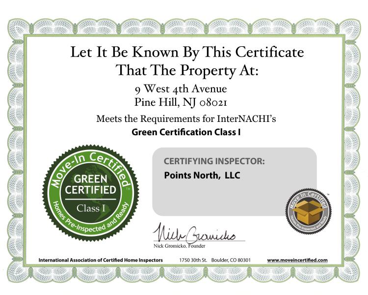 Move In Certified Inspections Points North Llc
